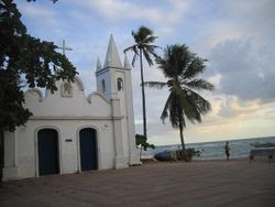 Church by the sea at Praia do Forte