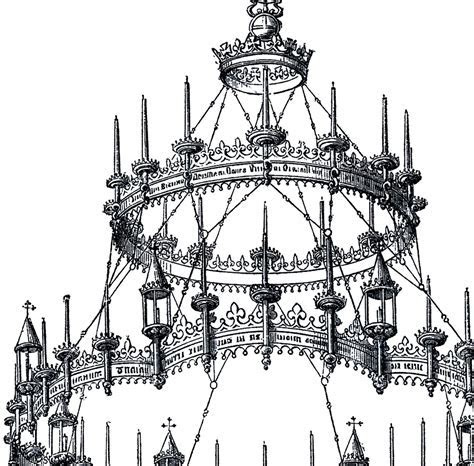 Vintage Gothic Chandelier!   The Graphics Fairy