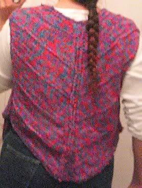 Bias Knit Vest Back