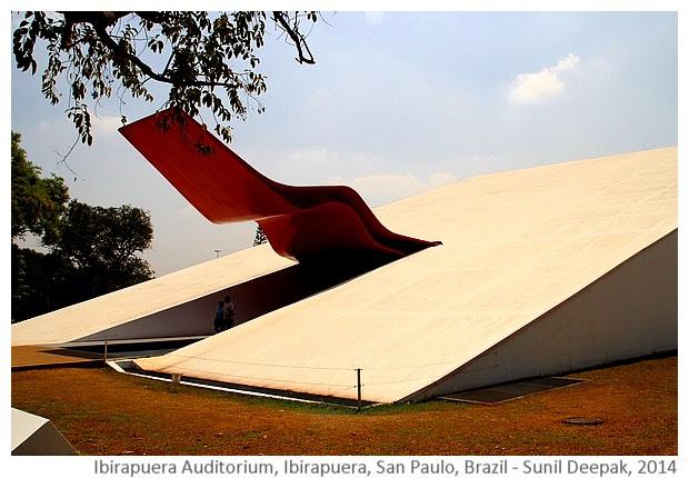 Ibirapuera auditorium, San Paulo, Brazil - Images by Sunil Deepak, 2014