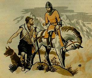 El pastor de las Navas de Tolosa indicando el camino