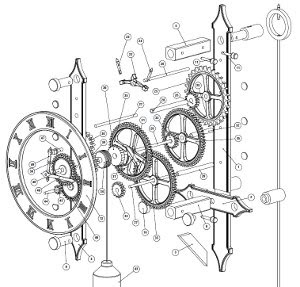 file: Complete Wooden clock escapement plans