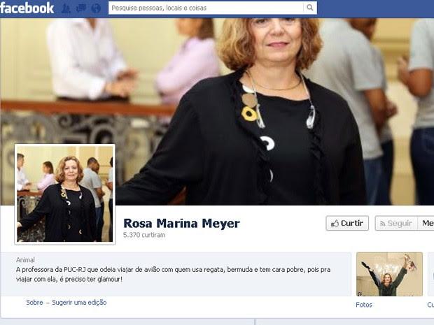 Página foi criada para ironizar atitude de professora que criticou trajes de homem no aeroporto do Rio (Foto: Reprodução / Facebook)