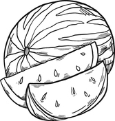 Watermelons Coloring Pages Free Coloring Pages