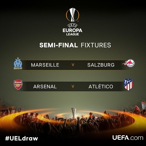 Europa League Semi-final Fixtures: Arsenal Given Hard to Crack Semi Final Opponent The semi-final fixtures...