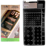 1 X 98 Battery Storage Organizer Removable Tester Storage Rack Holder AA AAA 9V