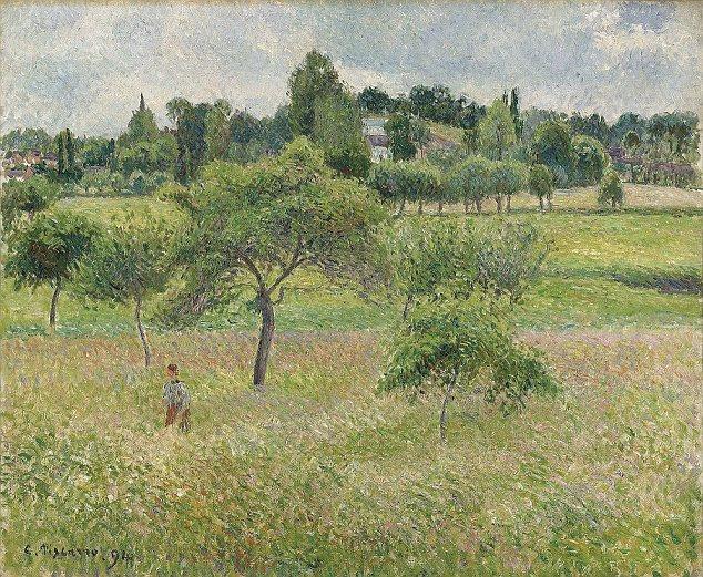 """Pommiers de Camille Pissarro à Éragny, assinado e datado """"C.Pissarro.94 ', tem uma estimativa de R $ 900k para R $ 1,2 milhões"""