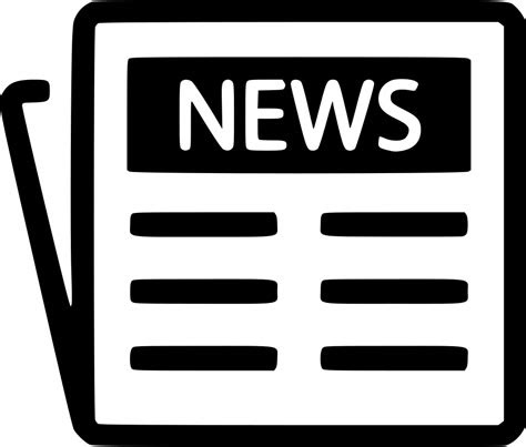 newspaper svg png icon