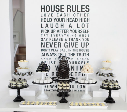 Bn Black Book Of Parties Black And White Dessert Table