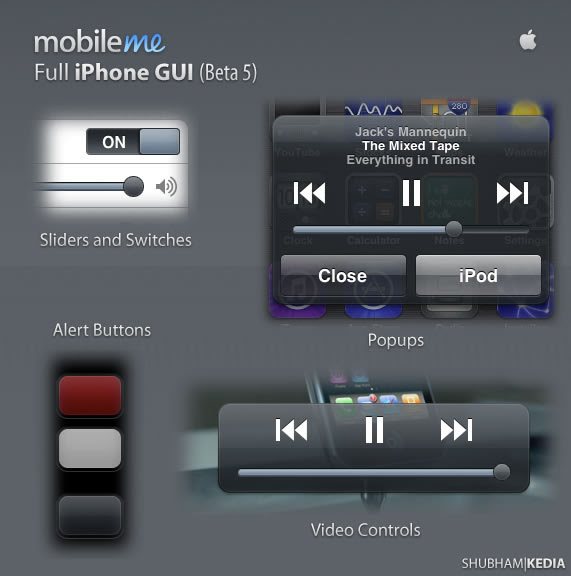 MobileMe Full iPhone GUI
