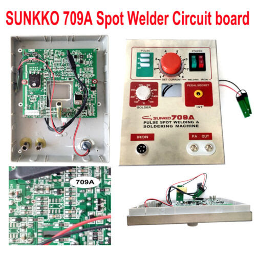 Sunkko 709a Spot Welder Circuit Board Battery Welding Diyrepair Replacement Case Isp Paris