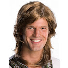 Rubie's Costume Men's 70s Groovy Hippie Disco Costume Wig, Brown, OS