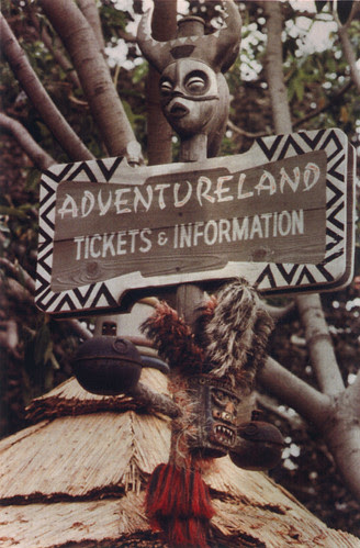 Disneyland Adventureland Ticket Signs, 1960s
