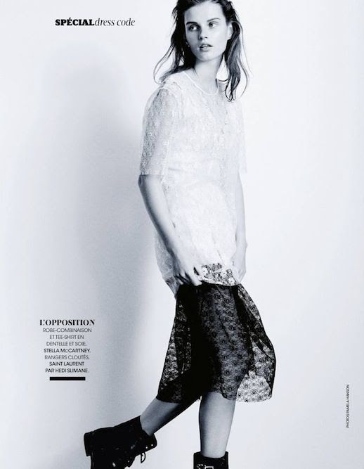 Le Fashion Blog Editorial Lace And Embroidered Goodness Madame Figaro France Belle D'Ajours March 2014 Stella McCartney Sheer Tee Tshirt Black Lace Midi Skirt Saint Laurent Lace Up Boots 3 photo Le-Fashion-Blog-Editorial-Lace-And-Embroidered-Goodness-Madame-Figaro-France-Belle-DAjours-March-2014-3.jpg