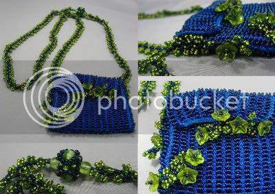 Garden Party Amulet Bag by Le Beadoir
