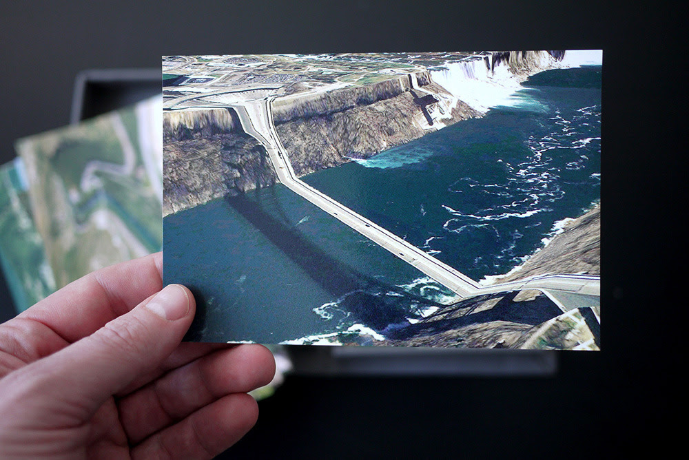 Valla, Clement. Postcards from Google Earth. 2010, 25 cards in box. (on loan from artist)
