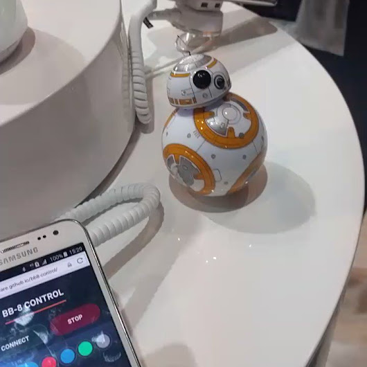 "Bruce Lawson on Twitter: ""Web bluetooth controlling BB8. """
