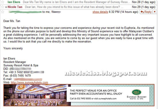 letter from sunway