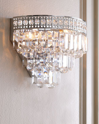 Crystal Wall Sconce - traditional - wall sconces - by Horchow