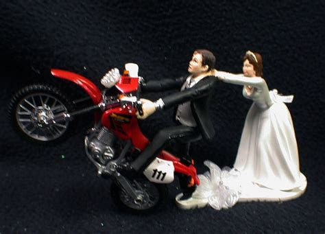 Off Road Dirt Bike Motorcycle wedding Cake topper Honda