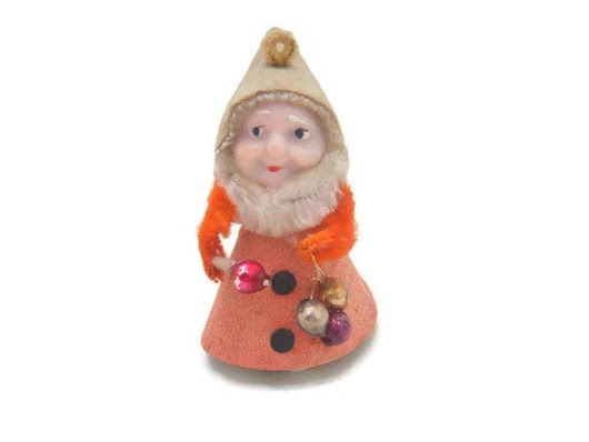 Elf Pixie Gnome Orange Vintage Christmas by spankyluvsvintage