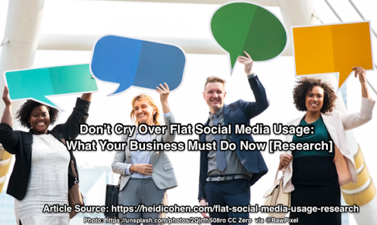 Don't Cry Over Flat Social Media Usage: What Your Business Must Do Now [Research] - Heidi Cohen