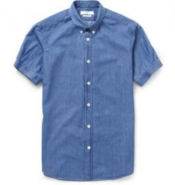 Alexander Mcqueen Short-sleeved Chambray Shirt