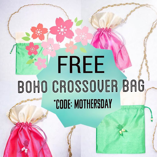Ready for Mother's Day? Use code MOTHERSDAY to get a FREE Boho Crossover bag! 🌸Only available for May Perfect Style Box Subscription*✨📦 #fashion #style #accessories #clothing #floral #bag #boho #mothersday #freegift #may #subscriptionaddict #subscriptionbox #subscriptionaddiction #fashionista #hanee21 #h21blog