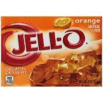 Jell-O Gelatin Dessert, Orange, 3-Ounce Boxes (Pack of 24)