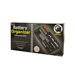 Kole Imports OT237-2 Battery Organizer with Power Tester - Pack of 2