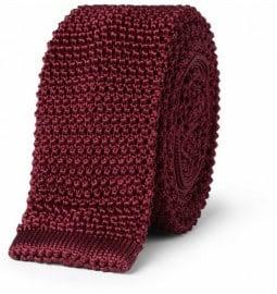 Charvet Slim Knitted Silk Tie