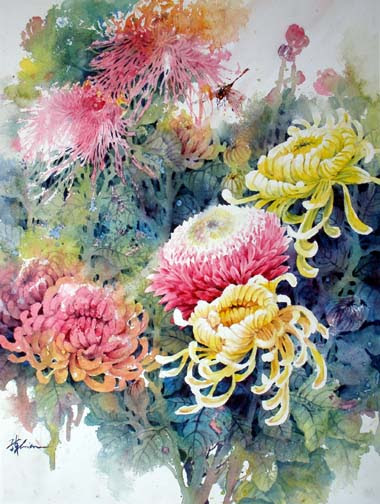 Watercolor Painting Lessons Flowers