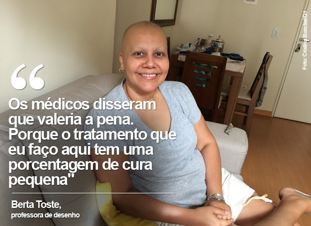 Berta Toste busca arrecadas R$ 500 mil em doações para passar por tratamento no exterior. (Foto: Cristina Boeckel/ G1)