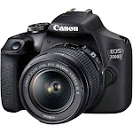 Canon EOS 2000D Kit [18-55 IS II] DSLR Camera - International Version - Black by NGP STORE USA