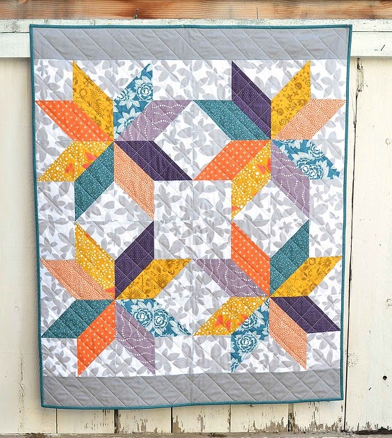 Lemoyne Star Baby Quilt Kitchen Table Quilting