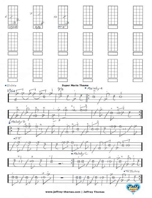 Ukulele : super mario ukulele tabs Super Mario or Super Mario ...