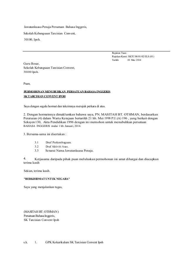 Surat Tidak Rasmi Dalam English Frasmi