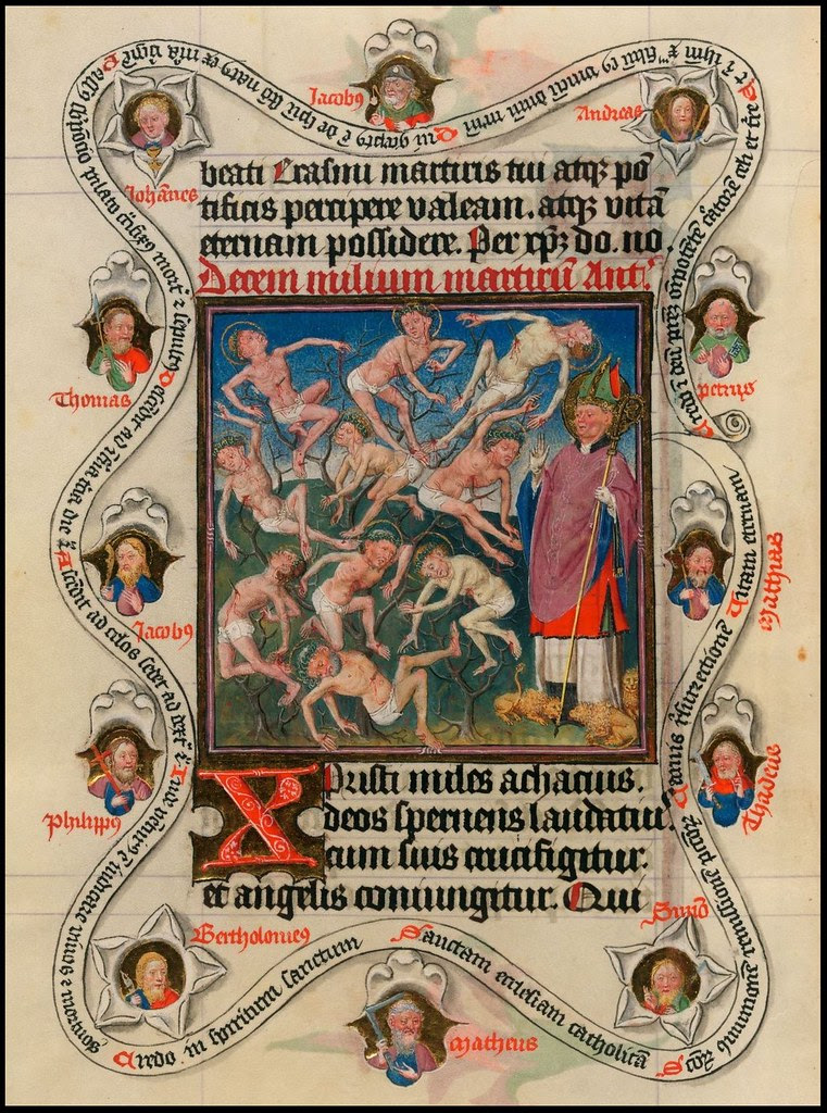 The Hours of Catherine of Cleves (Morgan exhibition)(cropped page) b