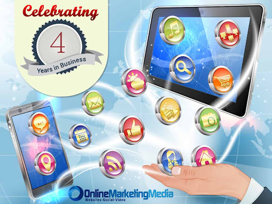 Celebrating 4 Years in Business - Online Marketing Media