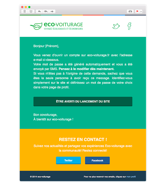 Mailing Ecovoiturage