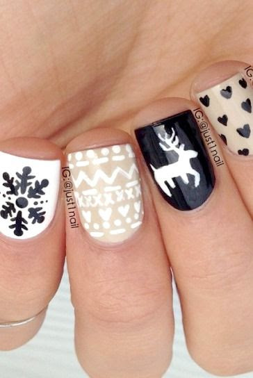 Cute Winter nail art