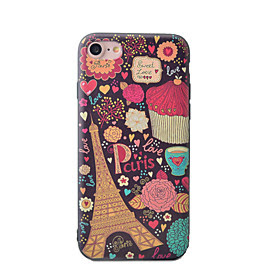 For Etui iPhone 7 / Etui iPhone 7 Plus / Etui iPhone 6 Monster Etui Bakdeksel Etui Eiffeltarnet Myk TPU AppleiPhone 7 Plus / iPhone 7 /