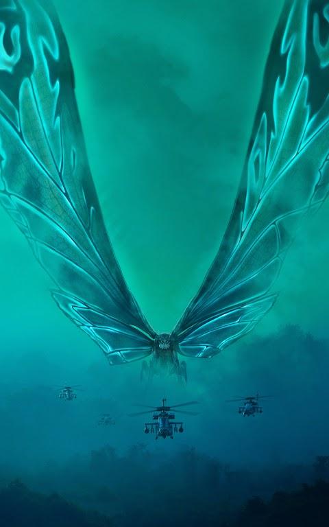خلفية أكبر حشرة من فلم كودزيلا بدقة عهالية  مع الطيارات hd