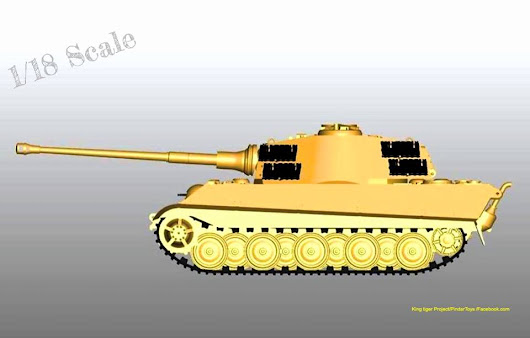Pindar Toys Shares 3D Designs of 1:18 Scale King Tiger Tank on Facebook