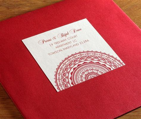 Colored envelopes with customized mandala address labels