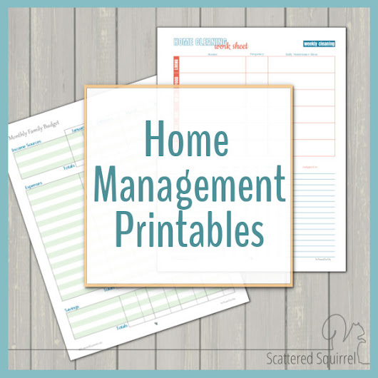 Home Management - Free Printables