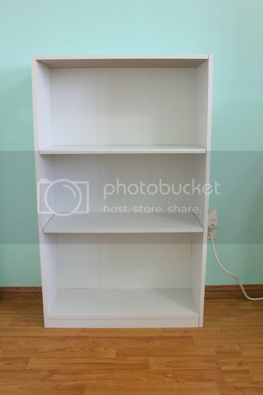 Bookcase Upgrade - Plain Jane to Silver Glam - Anne Hogan