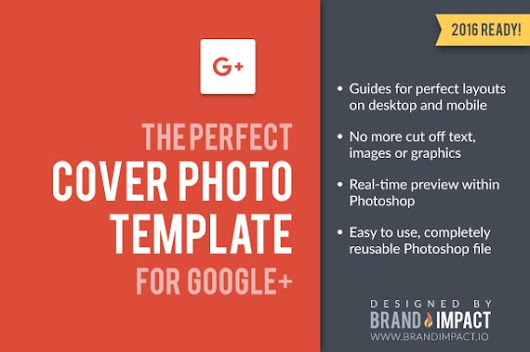 Google Plus Cover Photo Template by BrandImpactIO on Etsy