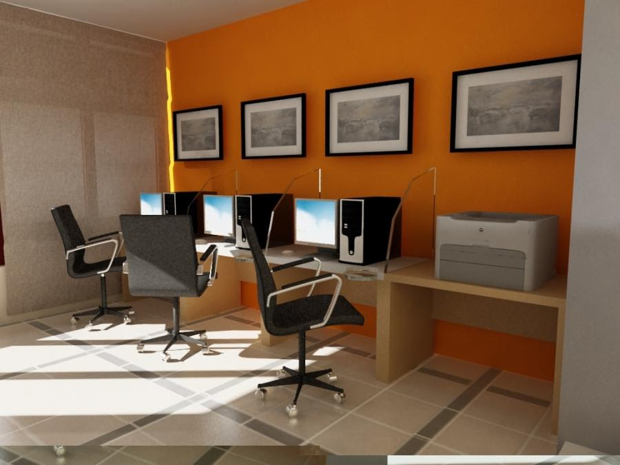 Internet cafe interior design photo