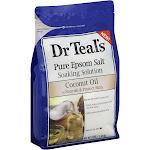 Dr Teals Soaking Solution, Pure Epsom Salt, Coconut Oil - 3 lbs (1.36 kg)